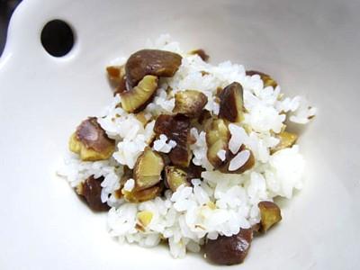 栗ご飯とズッキーニベーコン (11).JPG