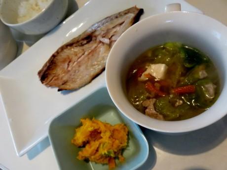 南瓜とボイル海老のサラダ