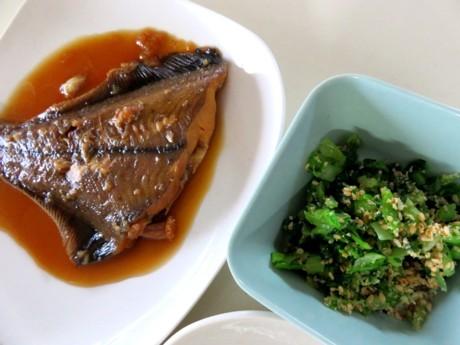 煮魚と豆ごはん 旬です