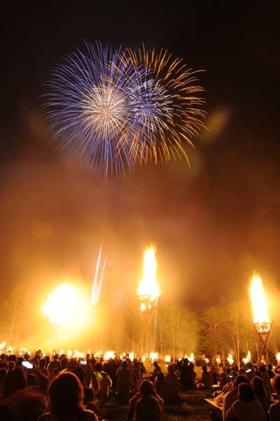 日和田高原 火祭り&花火