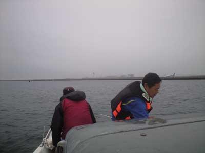 常滑沖のアジ釣り