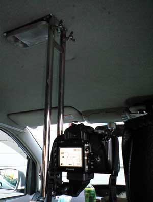 車載カメラ取り付け金具