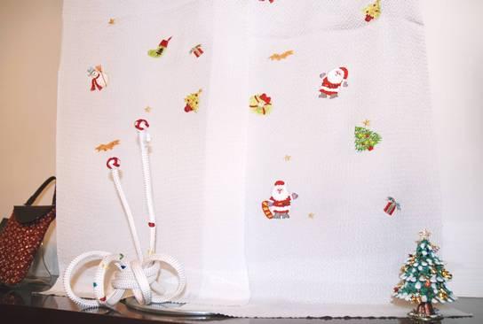 クリスマス模様の帯揚げ