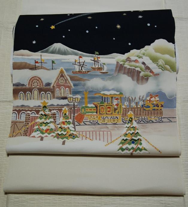 クリスマス模様の名古屋帯