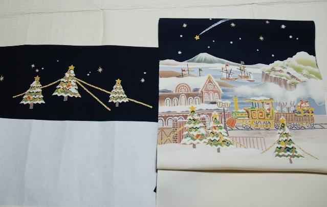 クリスマス模様の名古屋帯2