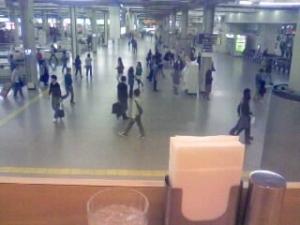 阪急梅田駅を上から眺める