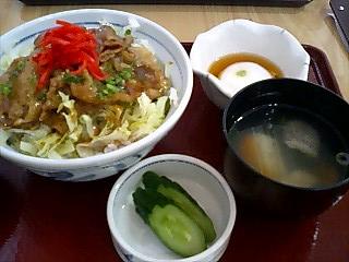 日替わり定食・豚丼