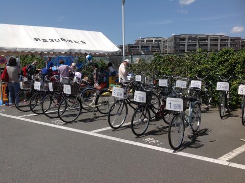 環境事業所フリマ リユース自転車