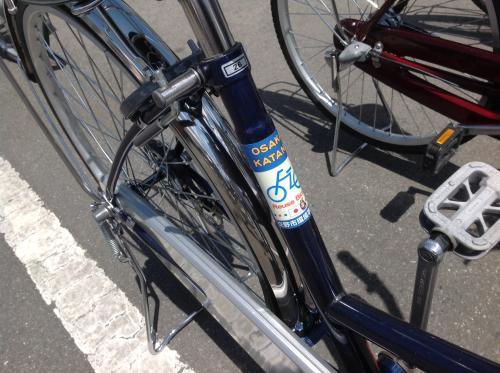 環境事業所フリマ リユース自転車ラベル