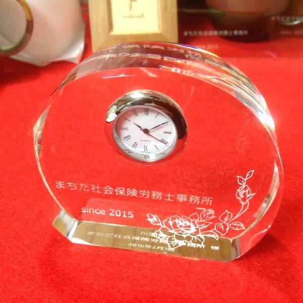 クリスタル置時計2