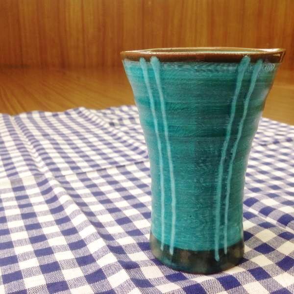 201504 味わいフリーカップ青釉1