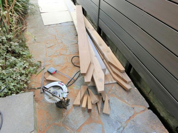 パーゴラDIY垂木