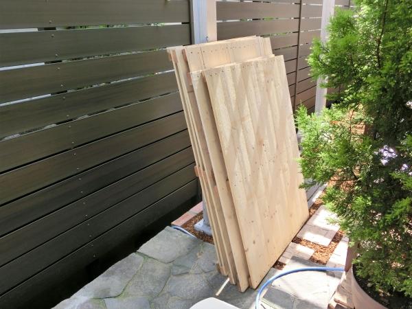 ガーデン棚パレットリメイクDIY
