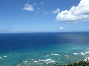 ダイアモンドヘッドから見る海