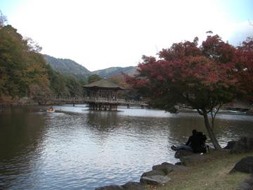 奈良公園 浮見堂 11月