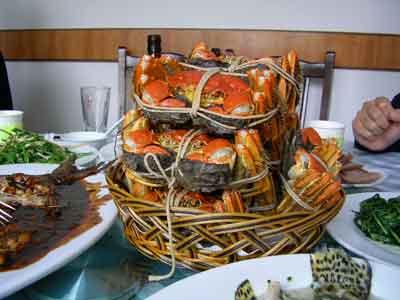 本場の上海蟹