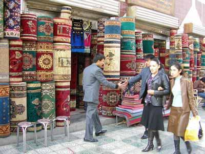 絨毯のお店