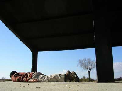 カマルガ湿原の小屋でひと休み