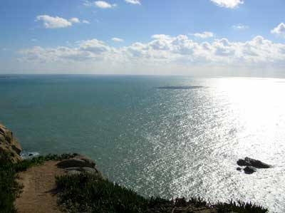 ロカ岬から大西洋
