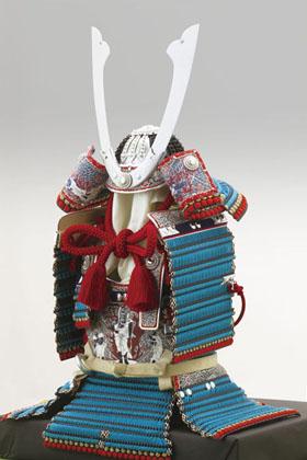 広島 厳島神社所蔵 国宝模写 浅葱綾威大鎧 (鎌倉時代後期)
