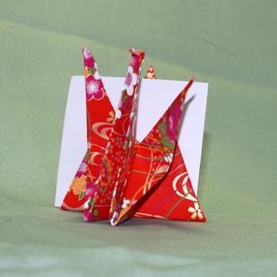折り鶴のカードたて(1)