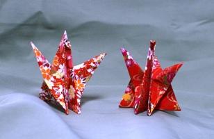 折り鶴のカードたて(2)