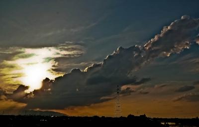 竜巻未満の雲デフォルメ