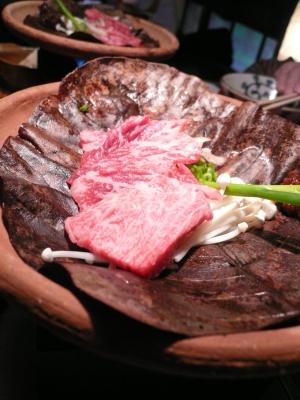 とんぼ 飛騨牛朴葉味噌焼き