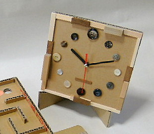 ダンボール工作 時計