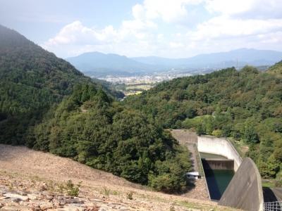 阿木川湖 下流側