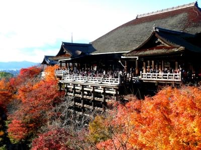 京都 清水寺 舞台 紅葉