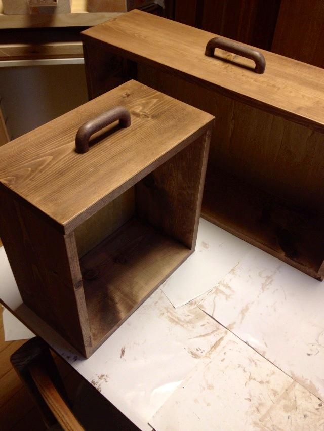 収納 木製引出し かわいい手作り取っ手