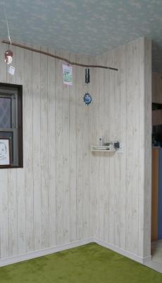 ロッククライミング 手作り 自宅 壁補強 before