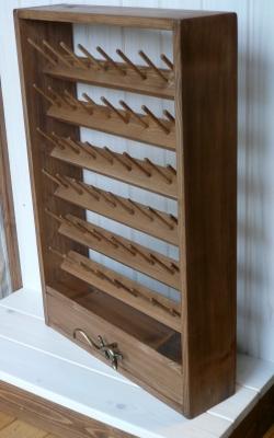 ミシン糸ラック 糸立て 収納 ハンドメイド 木工