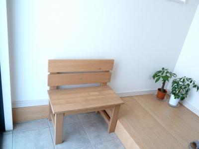 ベンチ 玄関 腰掛 荷物置き ハンドメイド 木工