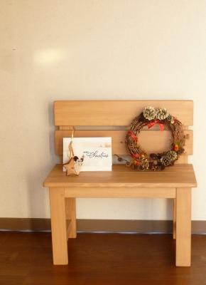 ベンチ 小ぶり 玄関 クリスマス