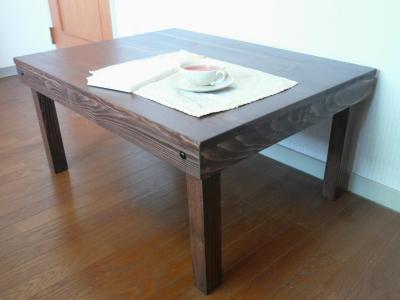 折り畳みテーブル 茶色 木製