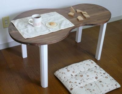 ひょうたん型テーブル かわいい 木工 子供用 ハンドメイド