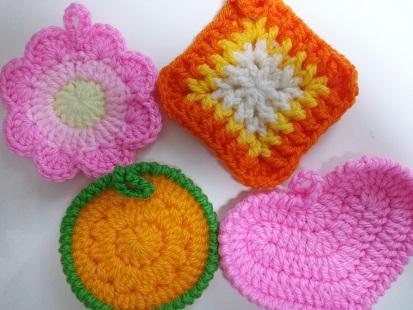 アクリルたわし 手編み 手作り