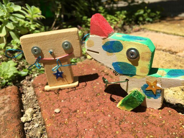 木製ロボット 手作り ワークショップ 尾張