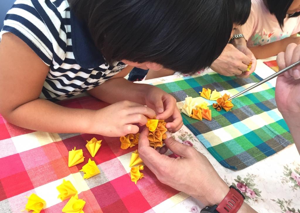 夏休み 体験 手作り 織り紙