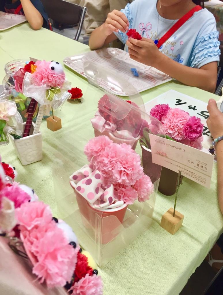 2017.7.30. 6日目造花で作るベアちゃ