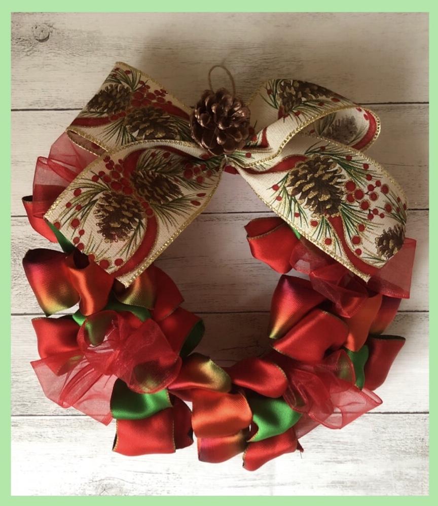 クリスマス リース 手作り 冬休み 小学生 親子