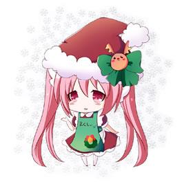 えくしぃちゃん(店長)のクリスマス衣装バージョン
