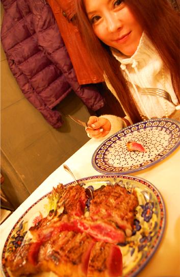 フィレンツェの美味しいステーキ