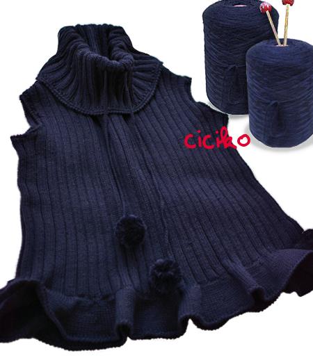 cicikoの手編み チビナイクロコダイルバッグ