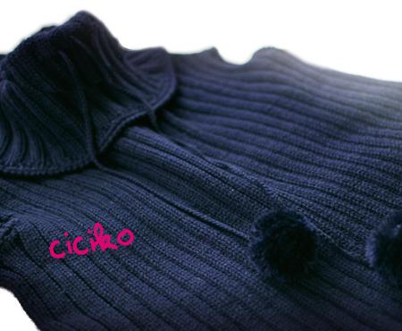 cicikoの手編み チビナイルクロコダイルバッグ