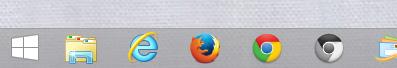 <Chromium Updater>のショートカットをタスクバーにピン留め