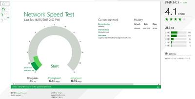 ストア アプリ「Network Speed Test」