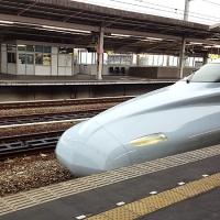 乗車駅ホームに「こだま」(N700系)到着〜